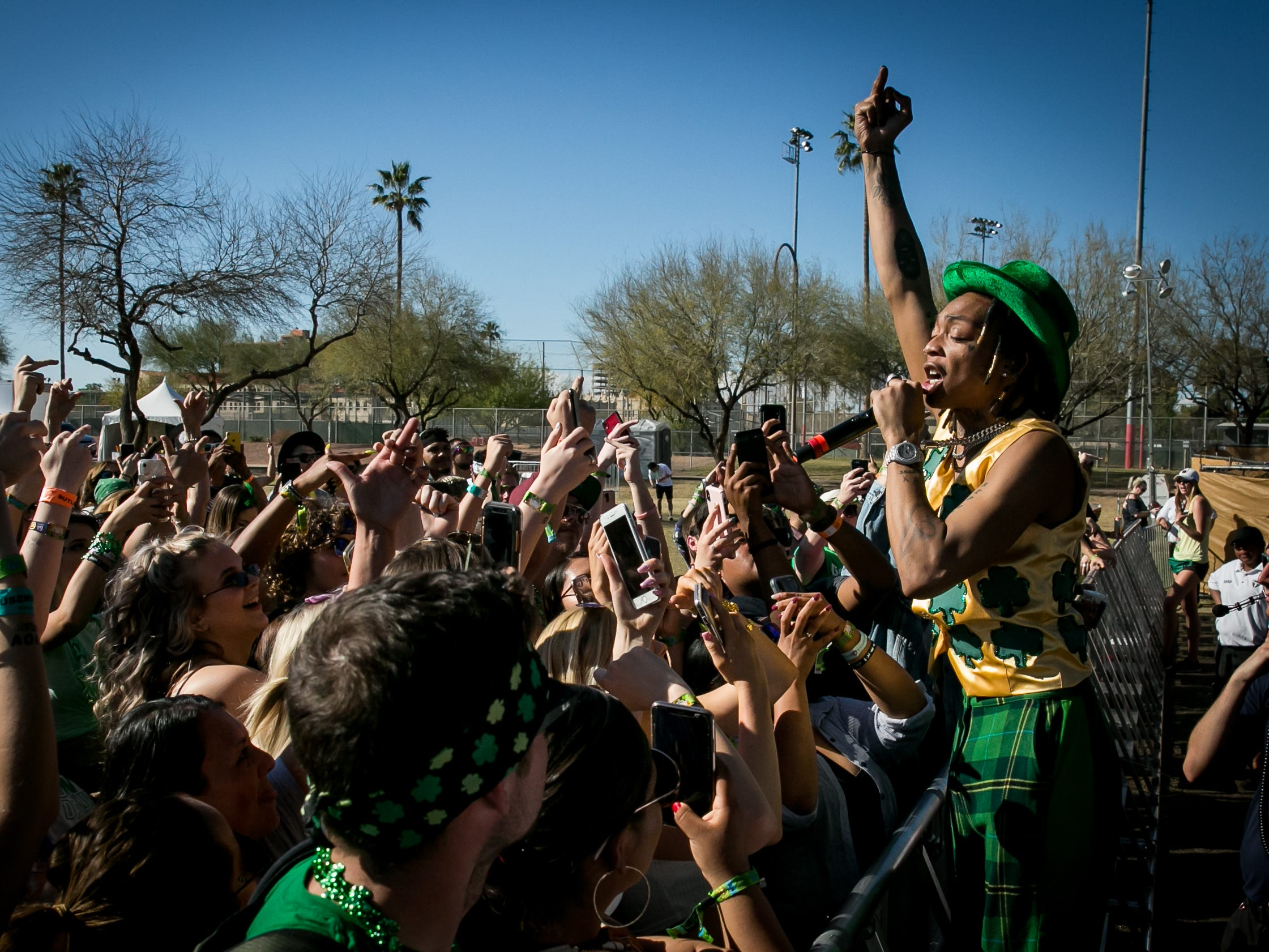 Tyla Yaweh performs at the Pot of Gold Music Festival at Steele Indian School Park on Sunday, March 17.