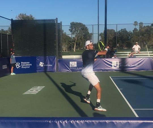 Matteo Berrettini won the singles tournament of the inaugural Arizona Tennis Classic on Sunday, March 17.