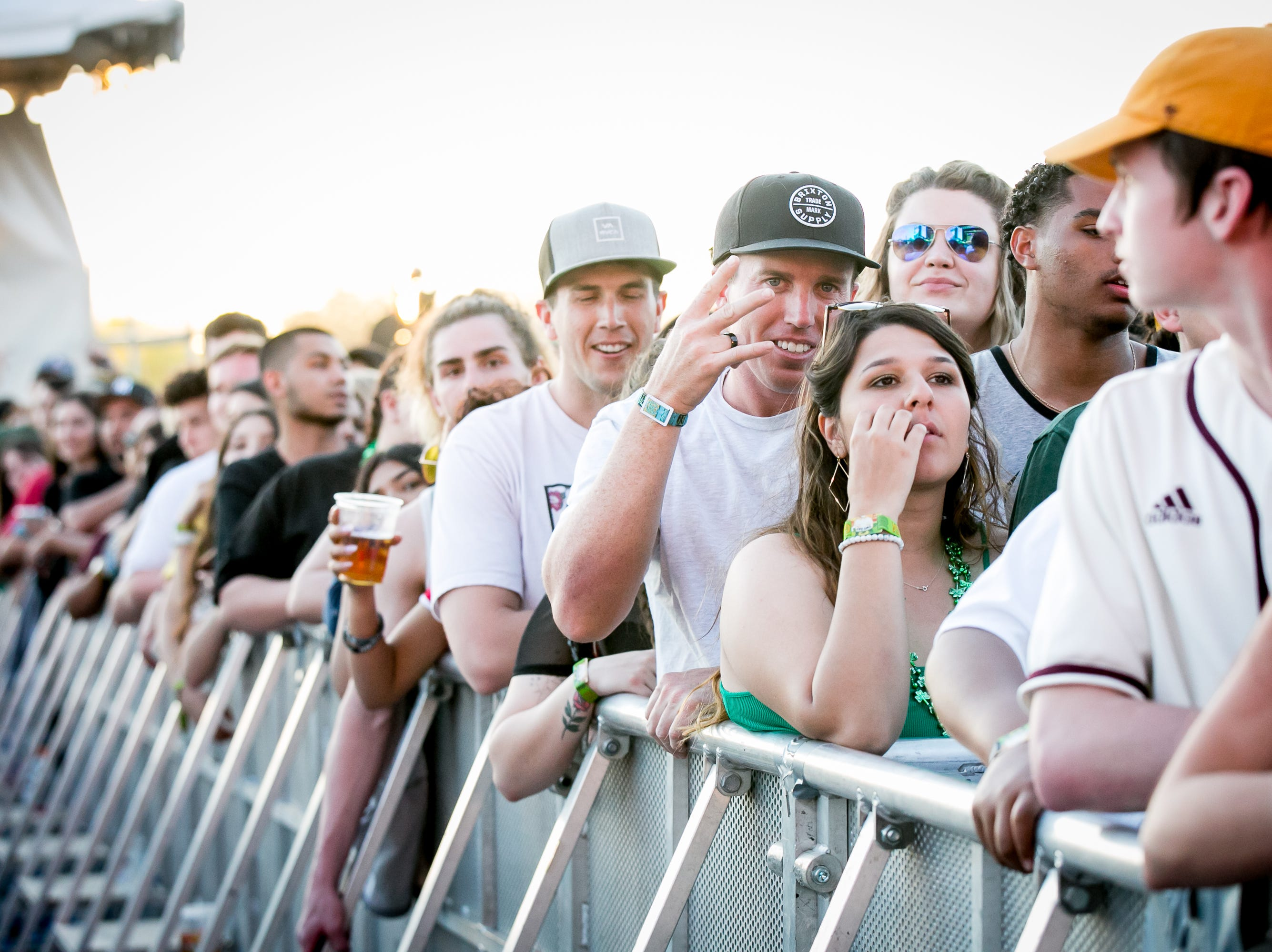The audience eagerly awaited the start of Lil Pump's set at Pot of Gold Music Festival on Sunday, March 17, 2019.