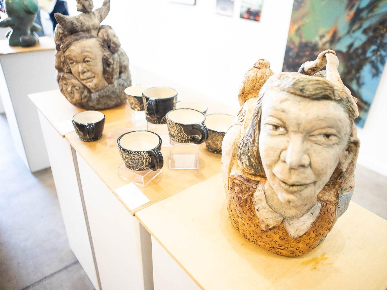 Deborah Hodder sculptures were on display on March 16, 2019, in Phoenix during Art Detour.