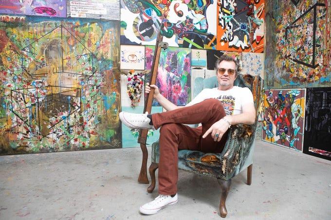 Artist Bill Dambrova is pictured in Goat Heart Studio March 16, 2019, in Phoenix during Art Detour.