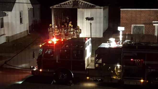 Rescue crews extinguished a pole barn fire in Port Huron late Sunday.