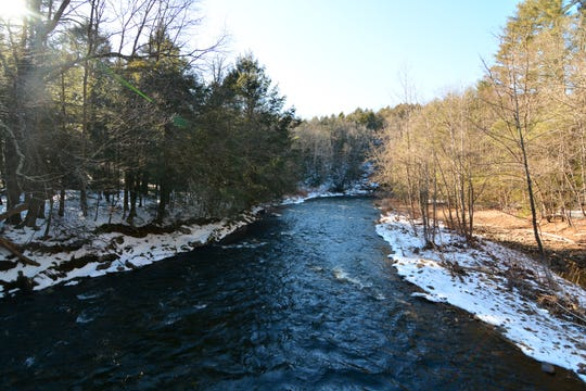 Take in the view from Hauser Bridge, a suspension bridge over the Shepaug River, along the Pinney Loop.