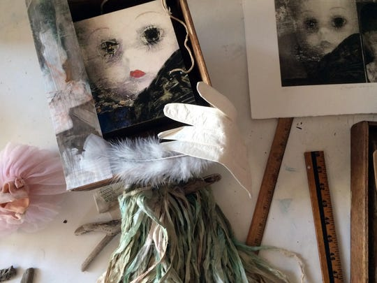 """Roxie Johnson's """"Abandoned Doll""""  is inspired by Danielle Hark's poem, part of the exhibit, """"Artists Respond to Poetry."""""""