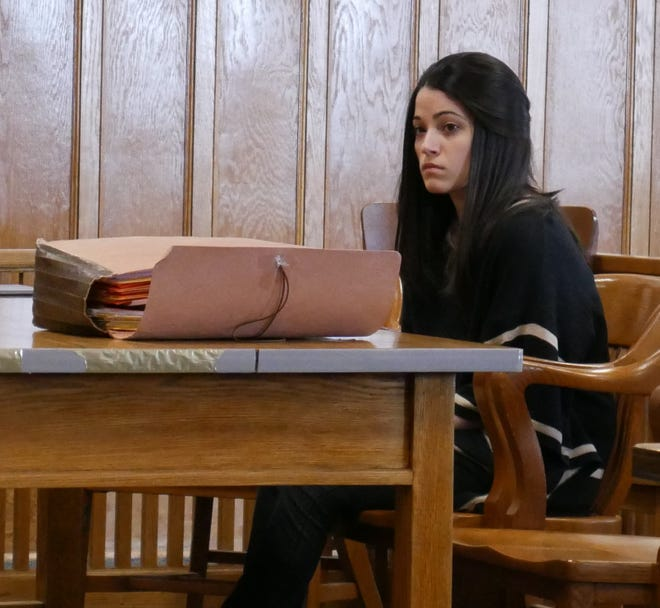 Nicole Addimando sits in Dutchess County Court on Feb. 22, 2019.