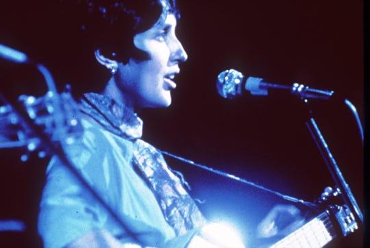 Woodstock Festival of Arts and Music at Bethel, New York, August 1969. Joan Baez. (AP Photo)