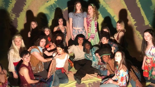 """The cast for the upcoming three-day showing of Hair: The American Tribal Love-Rock Musical."""""""