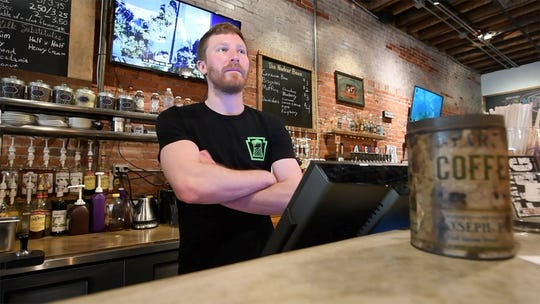 Brian Lewis, a manager at the Nuclear Bean in Middletown, talks about people's reaction to their name. The coffee shop and brew pub is a few miles from Three Mile Island.