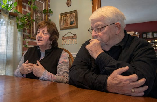 Linda, left, and Lou Braasch talk about the days after the nuclear accident happened at Three Mile Island at their home near Middletown. They still live in their home a few miles away from TMI. She and her children left for New Jersey in the days after the incident.