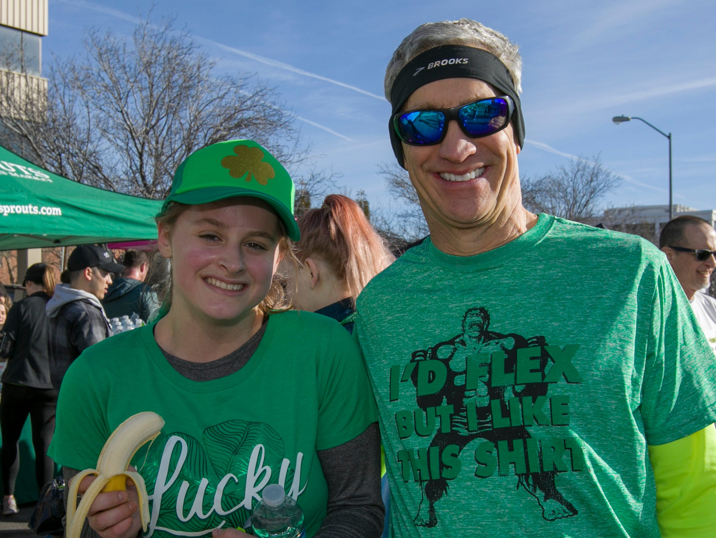 Delaney and William after the 7th annual Leprechaun Race in downtown Reno, Nevada on Sunday, March 17, 2019.