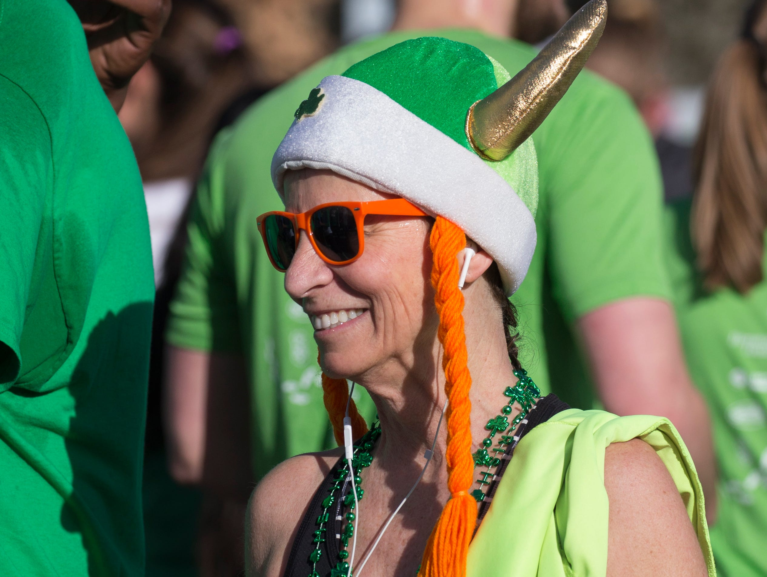 A photograph taken during the 7th annual Leprechaun Race in downtown Reno, Nevada on Sunday, March 17, 2019.