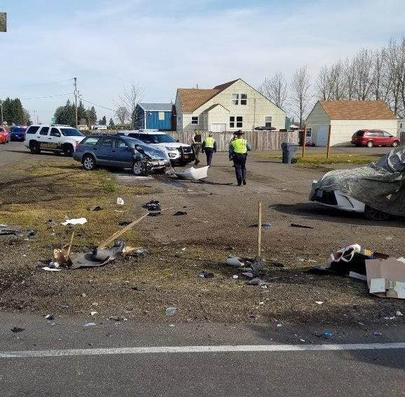 Teenage passenger dies in two-vehicle crash at Highway 99W, Airlie Road intersection