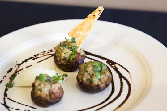 South Salem's Stuffed Mushrooms are pictured before being presented to the judges during the ORLAEF's ProStart Invitational, a statewide high school culinary competition, at the Salem Convention Center on March 18, 2019.