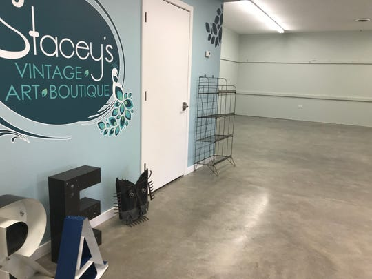 A photo of Stacey's Vintage-Art-Boutique near Tea. The business will provide space for local artisans to sell their goods.