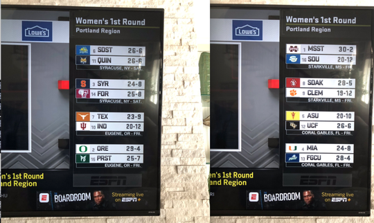 ESPN allegedly leaked the NCAA women's tournament bracket Monday.