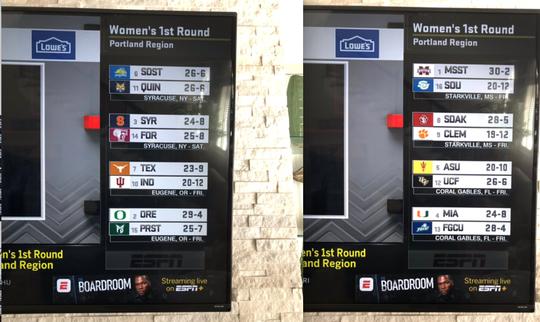 ESPN allegedly leaked the NCAA women's tournament bracket Monday.