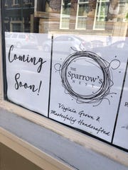 The Sparrow's Nest in downtown Staunton, a new store that features Virginia crafted goods, is expected to open in mid-April.