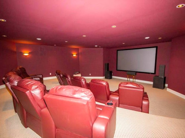 The home has a huge theater room.