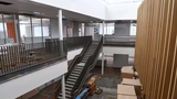 The learning neighborhoods take shape at St. Cloud school district's new high school, being built on the south side of town.