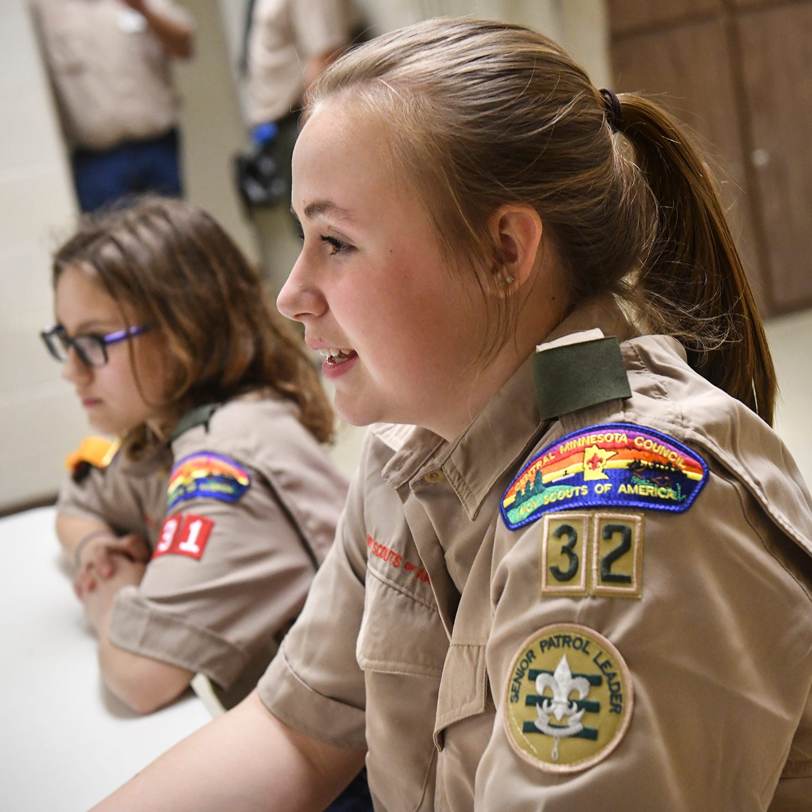 These 7 girls made history as the first all-girl Scouts BSA troop in Central Minnesota