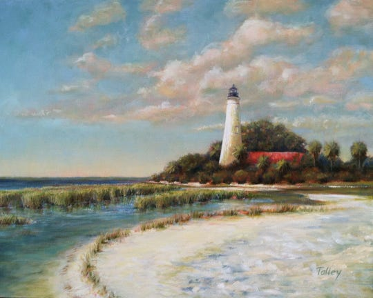Pam Talley lighthouses is part of the Ten Artists show at Dorothy Oven Park.