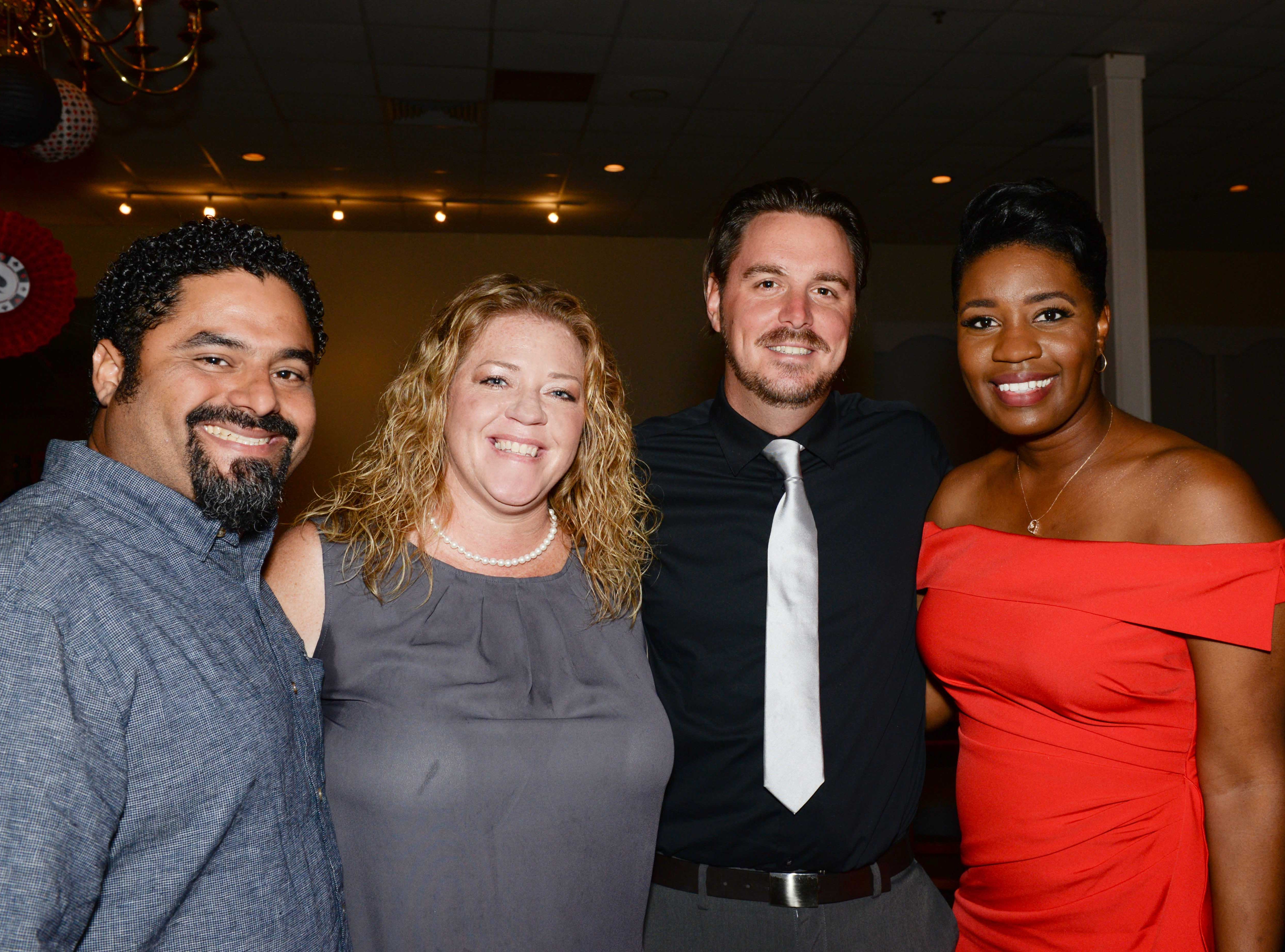 "Joe and Amy Calderon, Steve Monette and Taryn Jackson at Renaissance Charter School of St. Lucie's ""Viva Las Vegas"" gala and benefit auction."