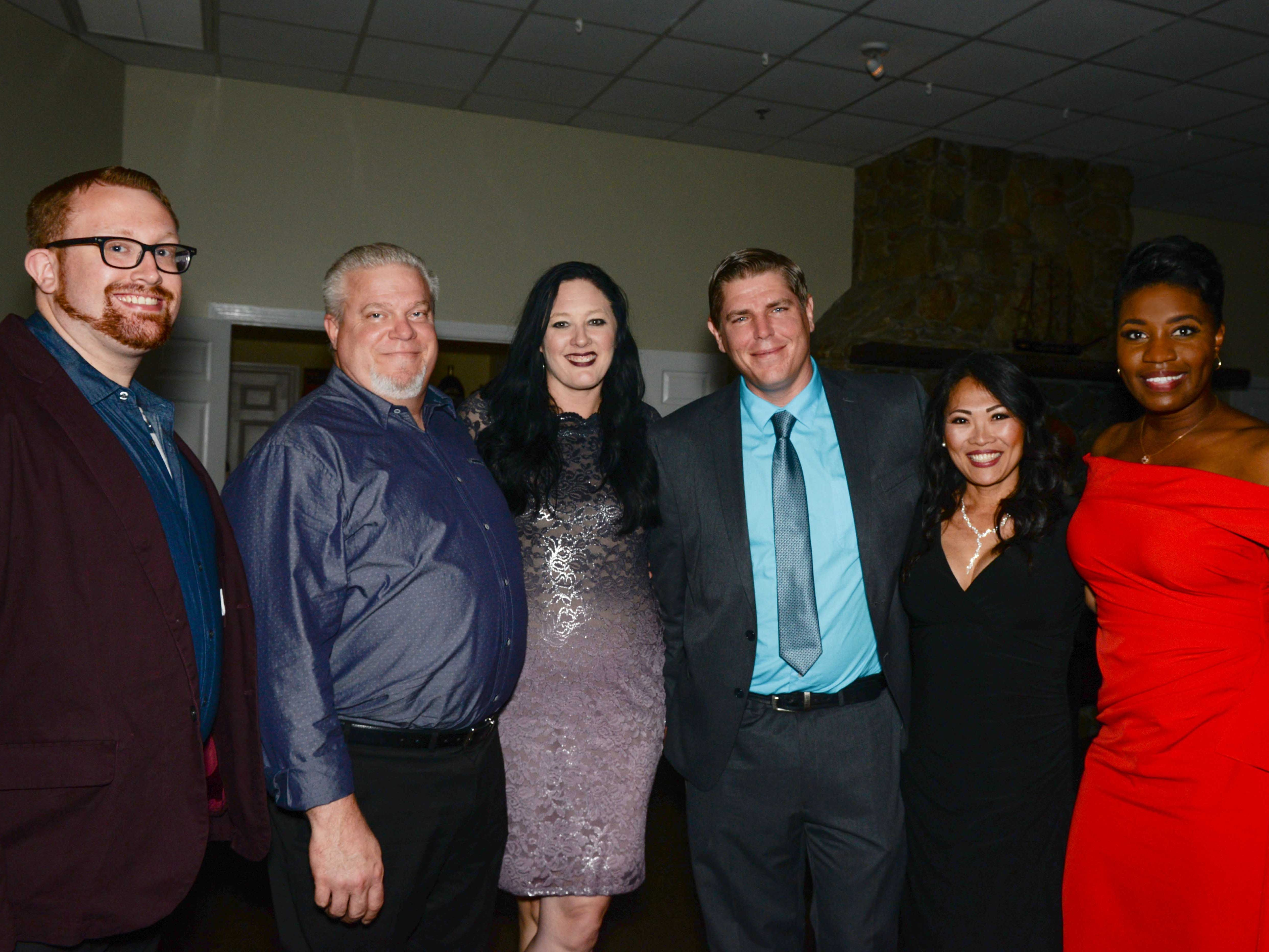"Andrew Silbaugh, left, Steve and Jill Todd, Scott Sladzicki, Kim Marchitto and Taryn Jackson at Renaissance Charter School of St. Lucie's ""Viva Las Vegas"" gala and benefit auction."