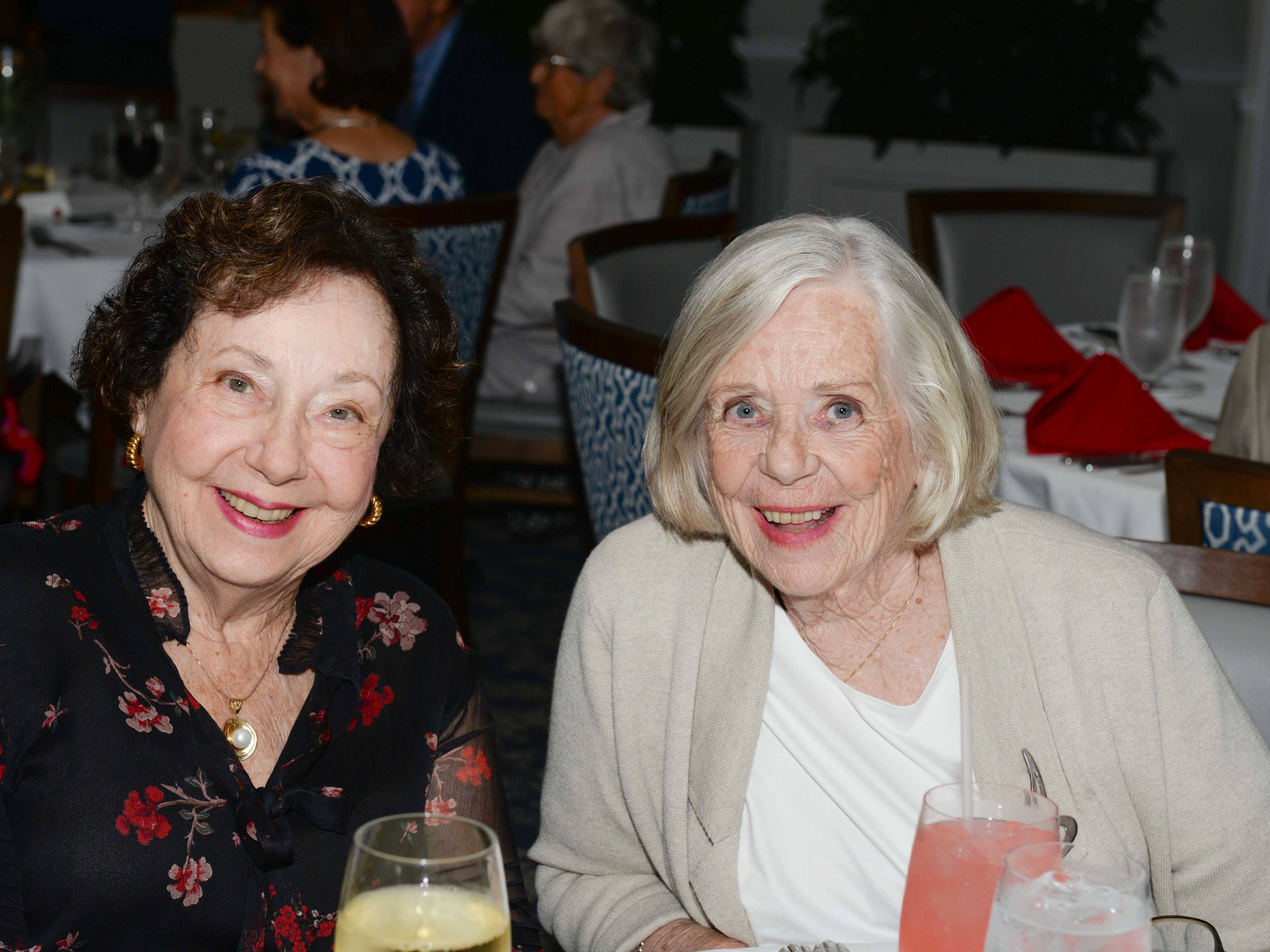 JoAnne Enterline, left, and Barbara Volin at the Stuart Friends of the Atlantic Classical Orchestra's Meet the Artist Dinner at the Stuart Yacht & Country Club.