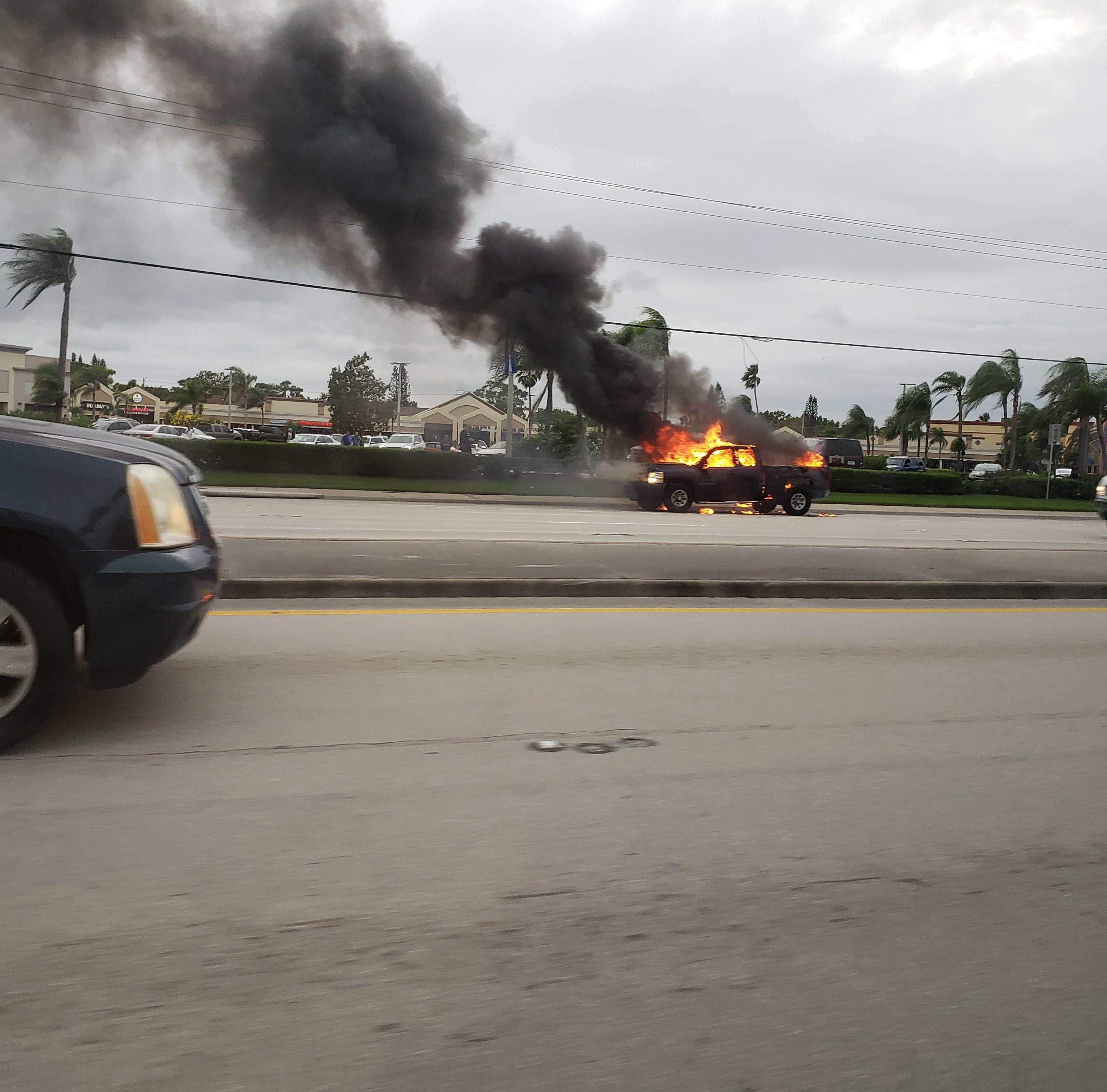 Truck goes up in flames in Stuart