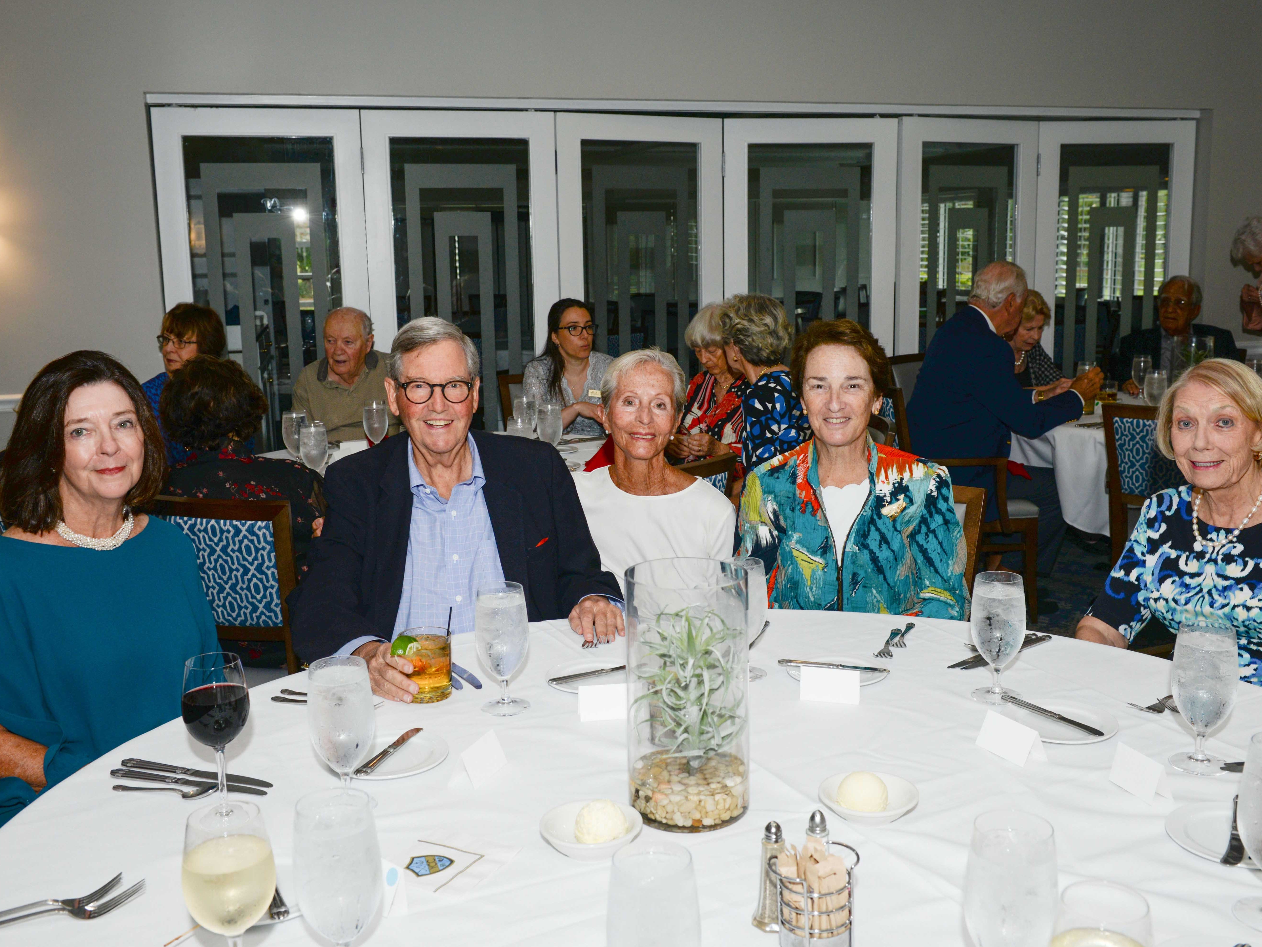 Martha Pertuz, left, John Lathrop, Rita McElwee, Sheila Lathrop and Barbara Peard attend the Stuart Friends of the Atlantic Classical Orchestra's Meet the Artist Dinner at the Stuart Yacht & Country Club.