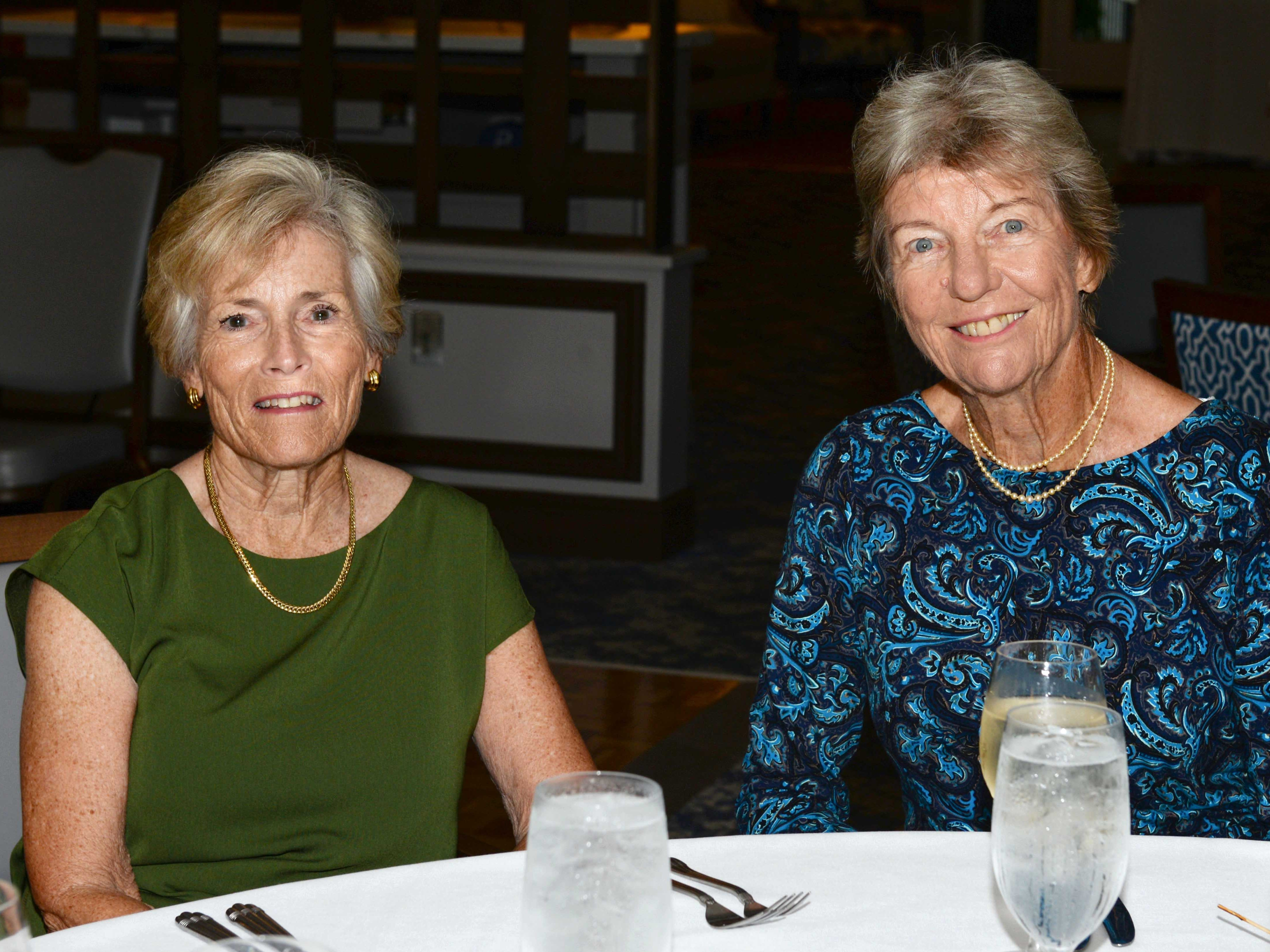 Isa Von Hessert, left, and Mary Moore at the Stuart Friends of the Atlantic Classical Orchestra's Meet the Artist Dinner at the Stuart Yacht & Country Club.