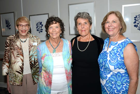 Stuart Friends of the Atlantic Classical Orchestra President Faith Paul, left, Sue Sokel, Barbara Beal and Barbara Pinaire attend the Meet the Artist Dinner at the Stuart Yacht & Country Club.
