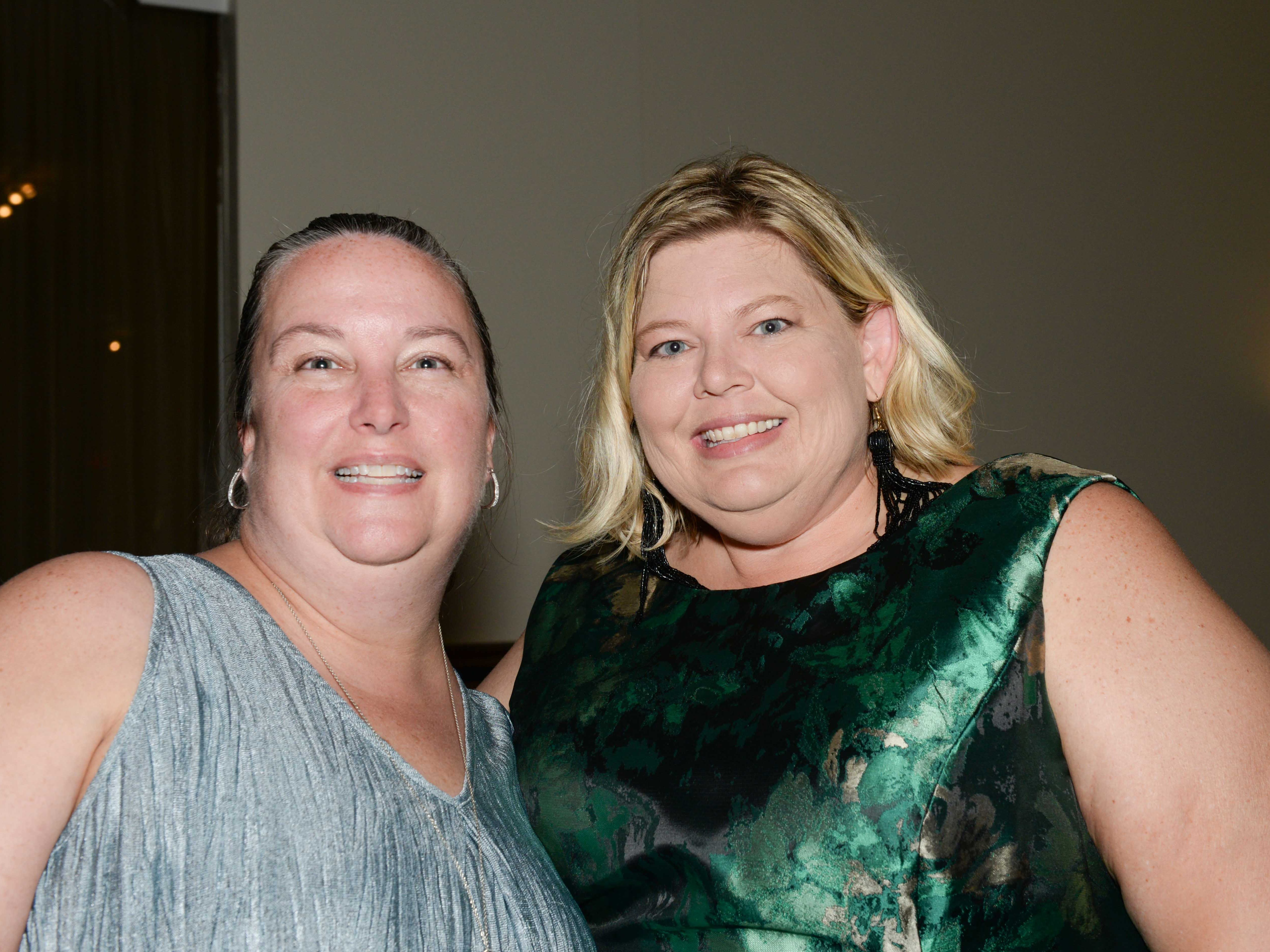 "Katie Covey and Heather Gelety at Renaissance Charter School of St. Lucie's ""Viva Las Vegas"" gala and benefit auction."