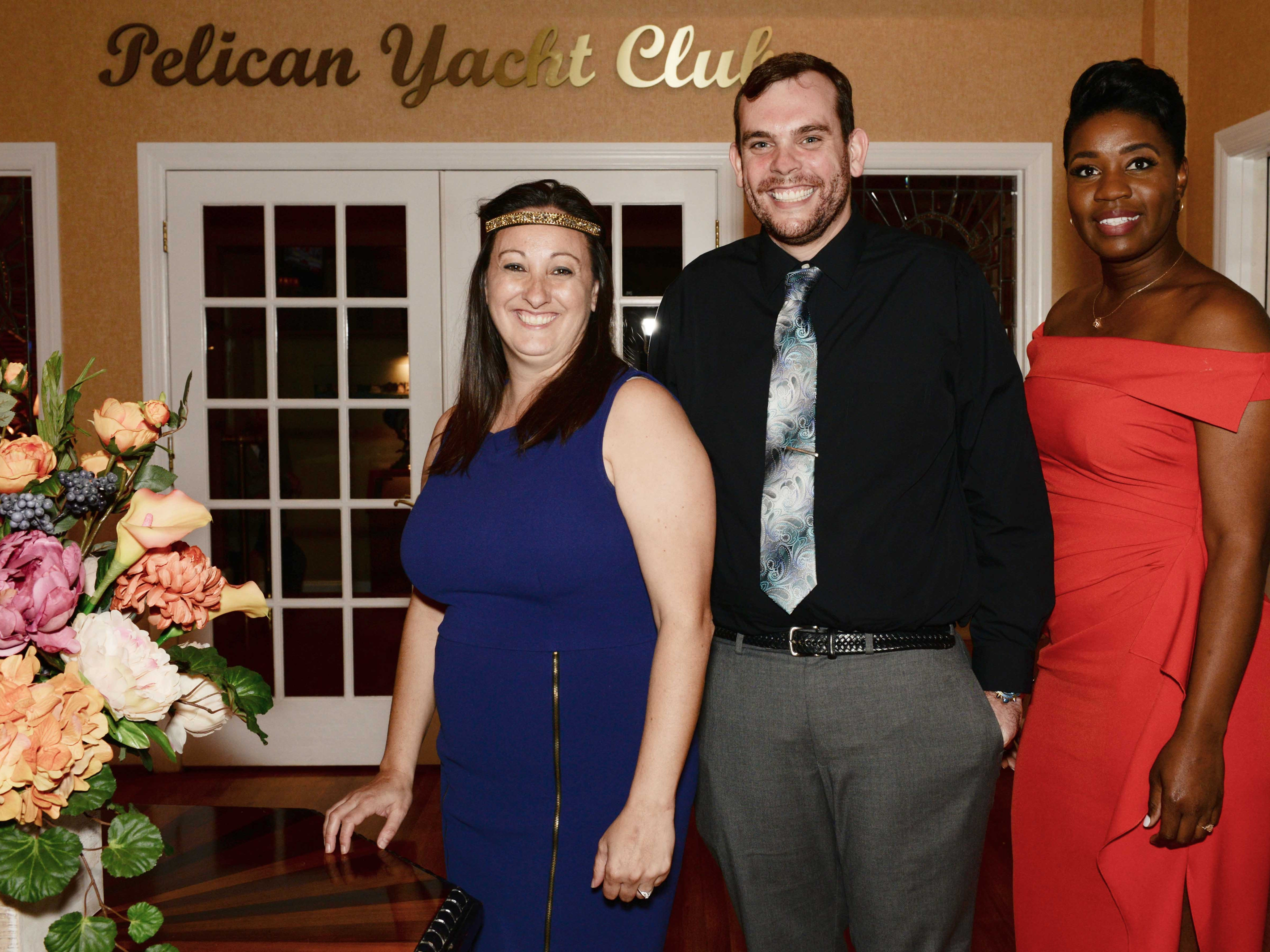 "Principal Christiana Cobun, left, with Assistant Pricipals Jason Wade and Taryn Jackson at Renaissance Charter School of St. Lucie's ""Viva Las Vegas"" gala and benefit auction."