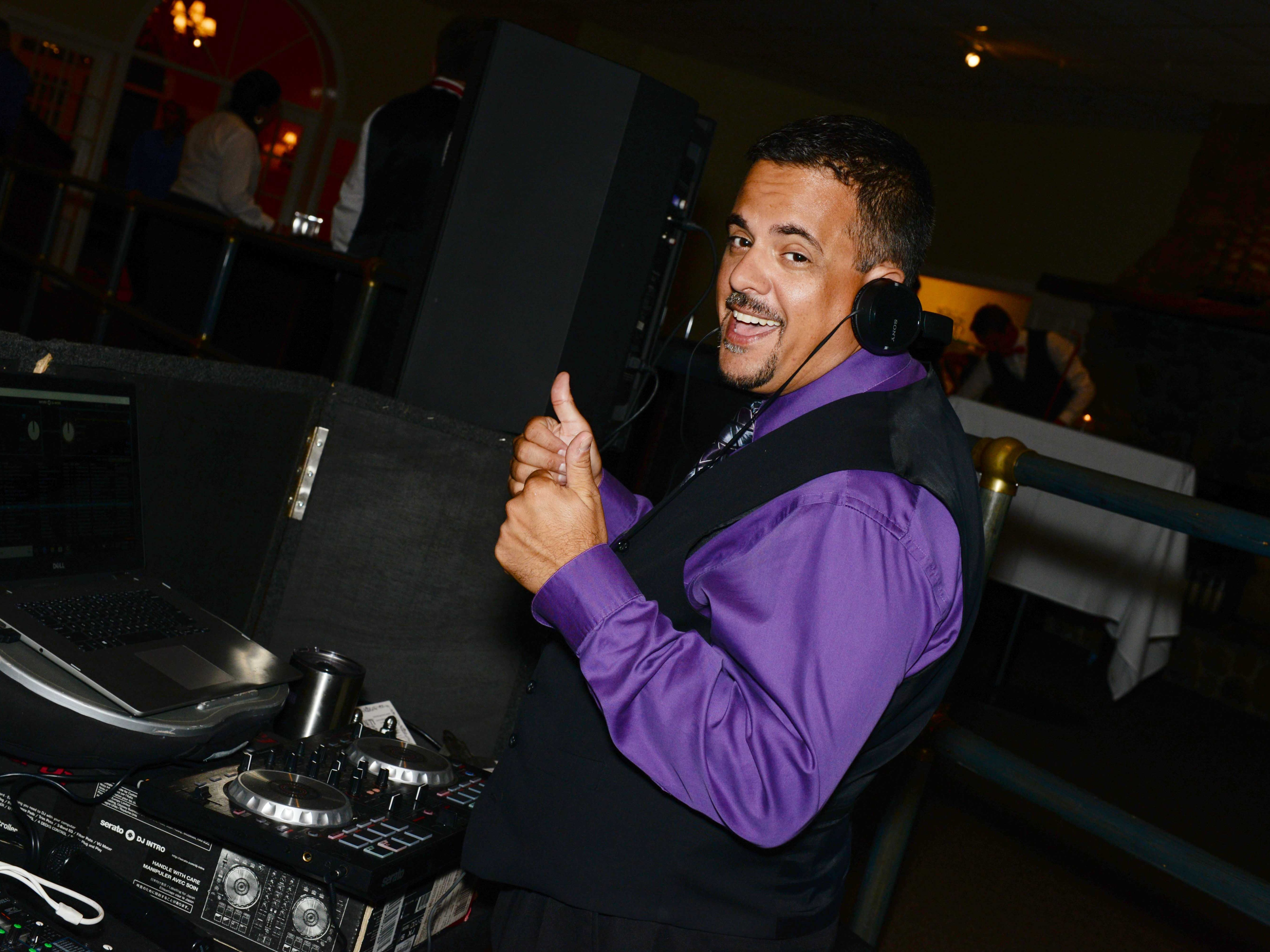 "DJ Chris Calvo keeps the party hopping at Renaissance Charter School of St. Lucie's ""Viva Las Vegas"" gala and benefit auction."