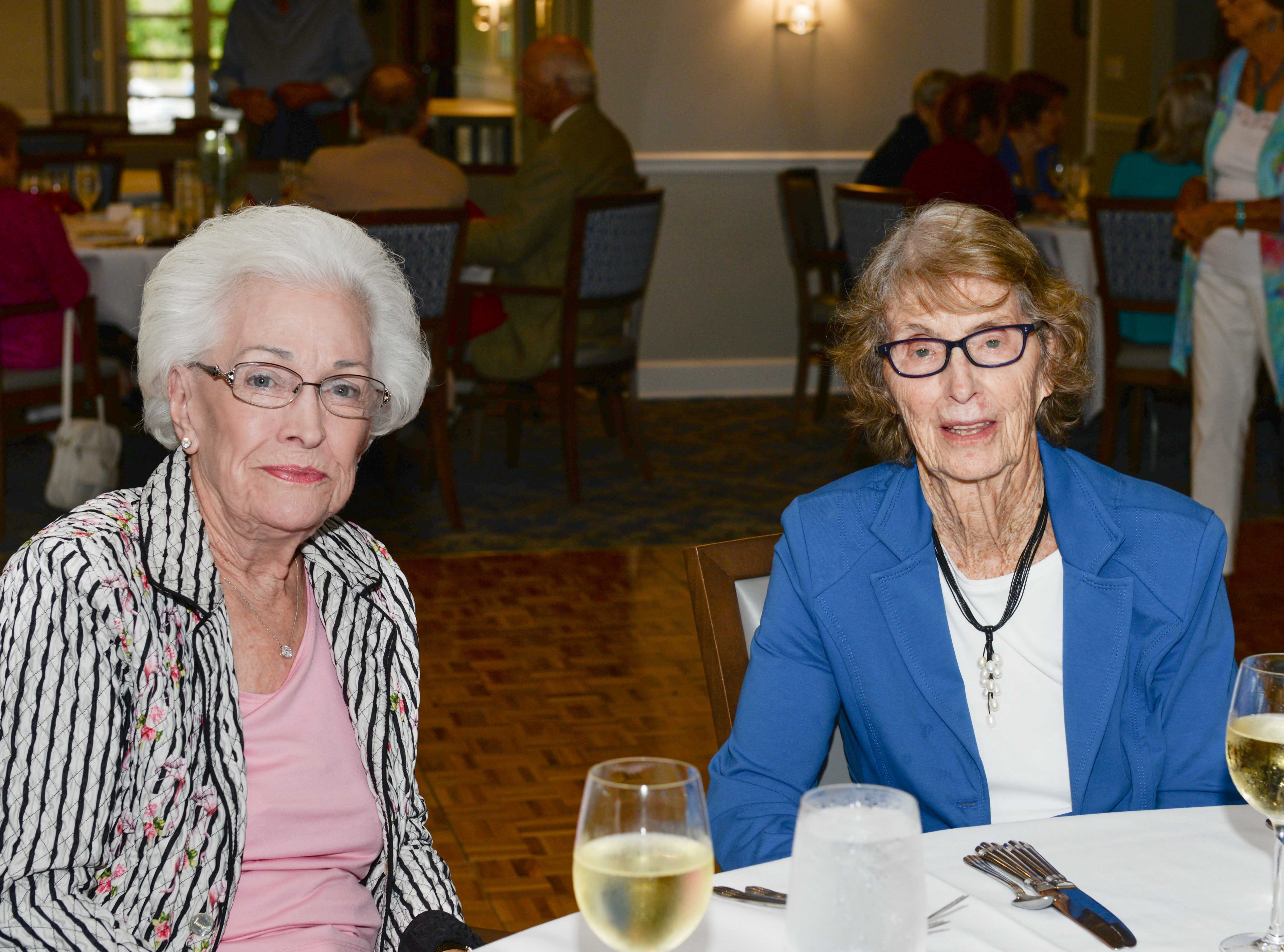 Natalie MacDonald, left, and Gloria Wolfe at the Stuart Friends of the Atlantic Classical Orchestra's Meet the Artist Dinner at the Stuart Yacht & Country Club.