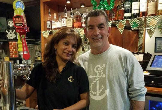 Molinda Kearns and Gary Serina, the owners of The Hudson Anchor in Sleepy Hollow.