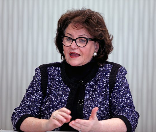 State Education Commissioner MaryEllen Elia speaks with The Journal News Staff about the state budget, the controversial new rules for what yeshivas must teach and the college admissions scandal in White Plains on March 18, 2019.
