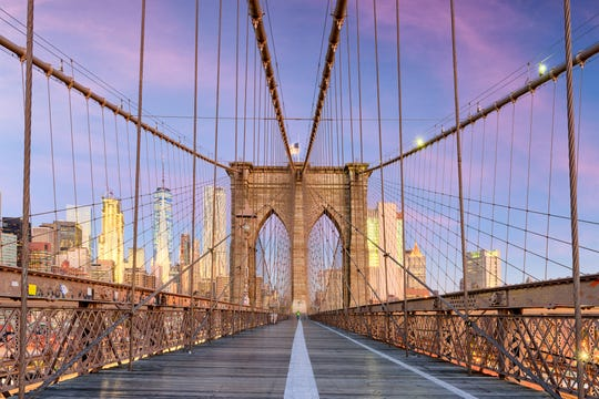 "The Brooklyn Bridge in New York is among the 47,000 spans deemed ""structurally deficient'' in a new report."