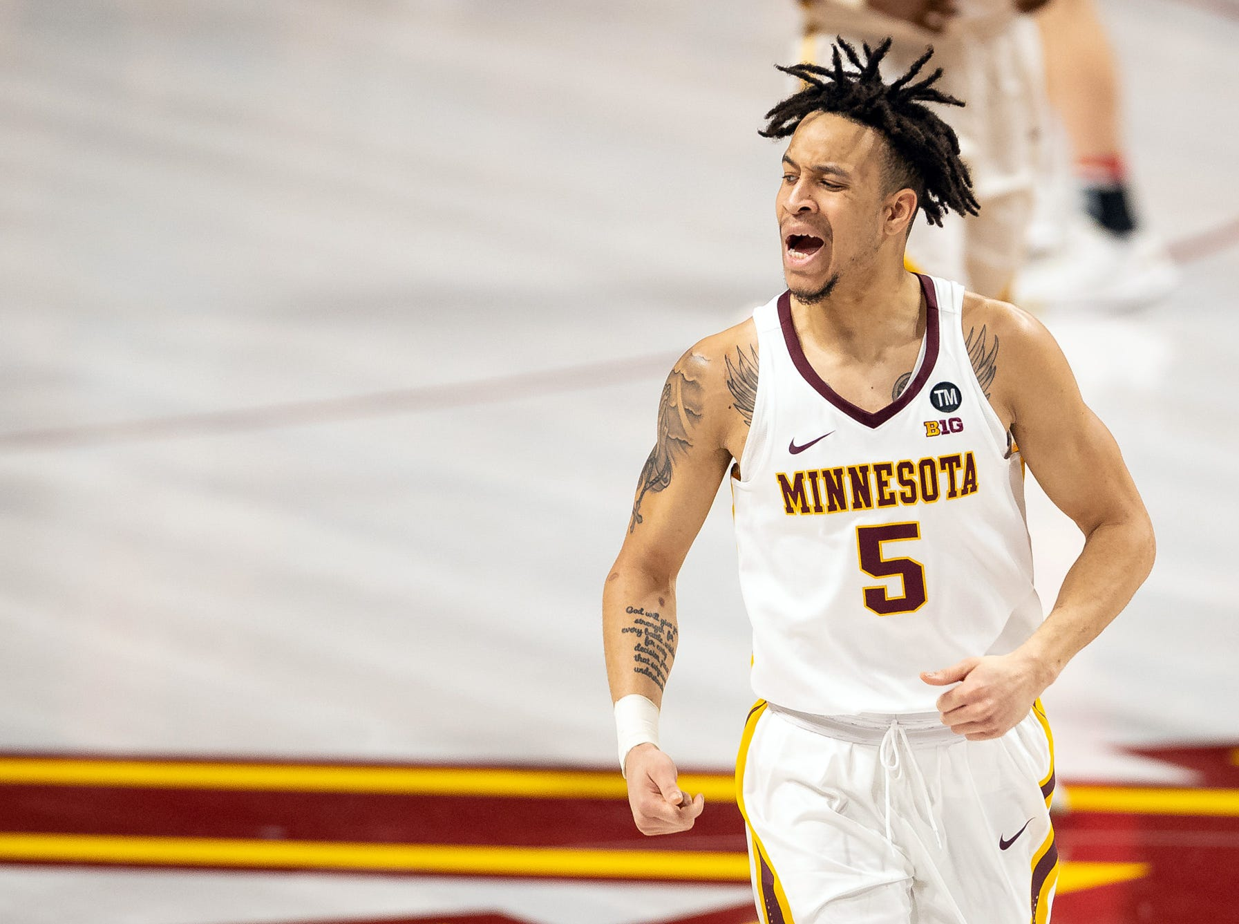 Minnesota (21-13), No. 10 seed in East, at-large bid out of Big Ten Conference.