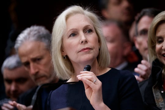 Democratic senator and presidential candidate Kirsten Gillibrand delivers remarks during a press conference to introduce legislation that would permanently fund the 9/11 Victims Compensation Fund in the US Capitol in Washington, DC, USA 25 February 2019 (Issued 17 March 2019).