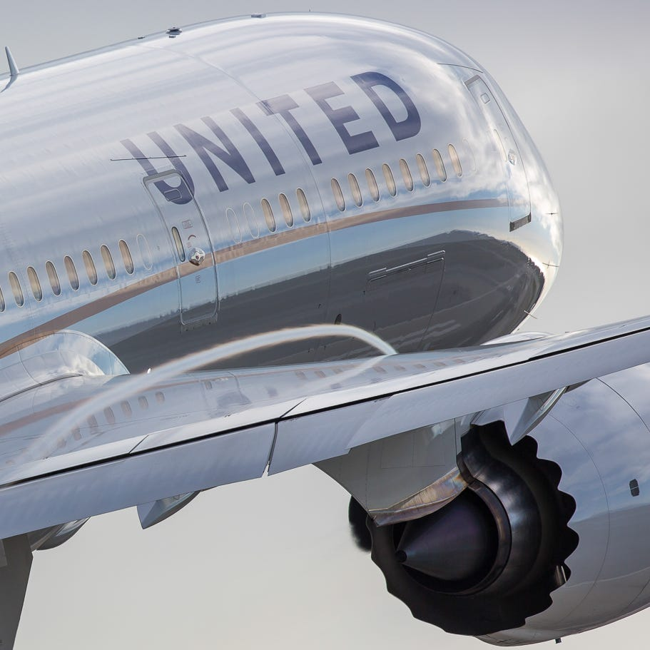 A United Airlines Boeing 787-9 Dreamliner  takes...
