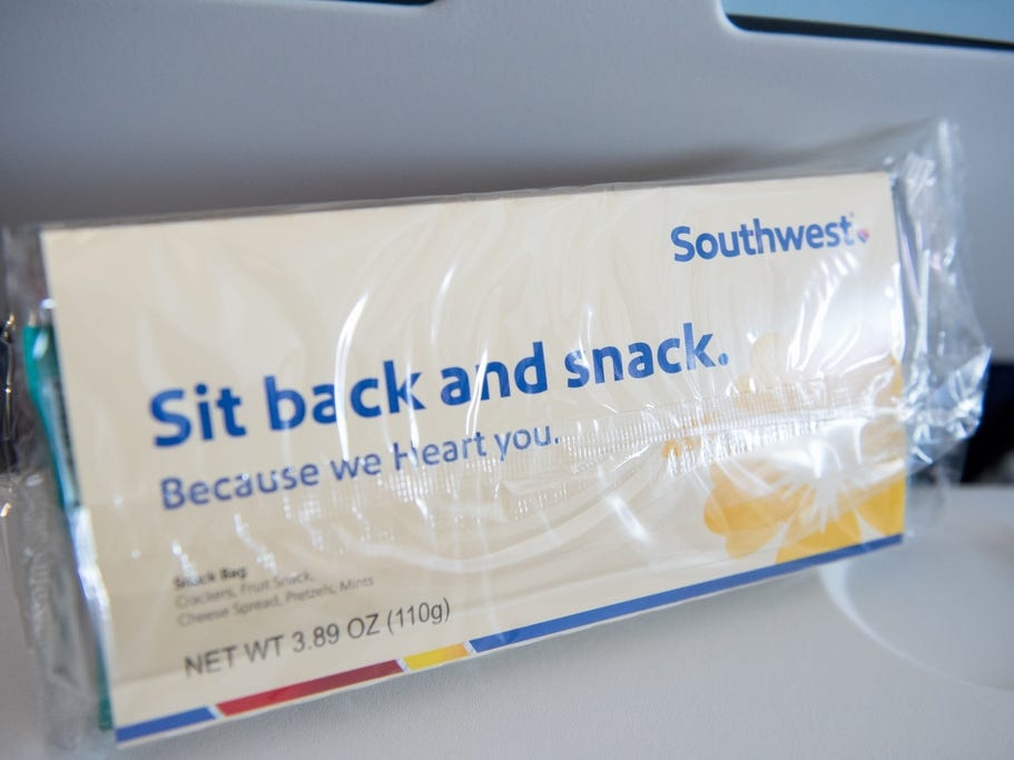 Southwest Airlines debuted a new snack box on its inaugural flight to Hawaii.