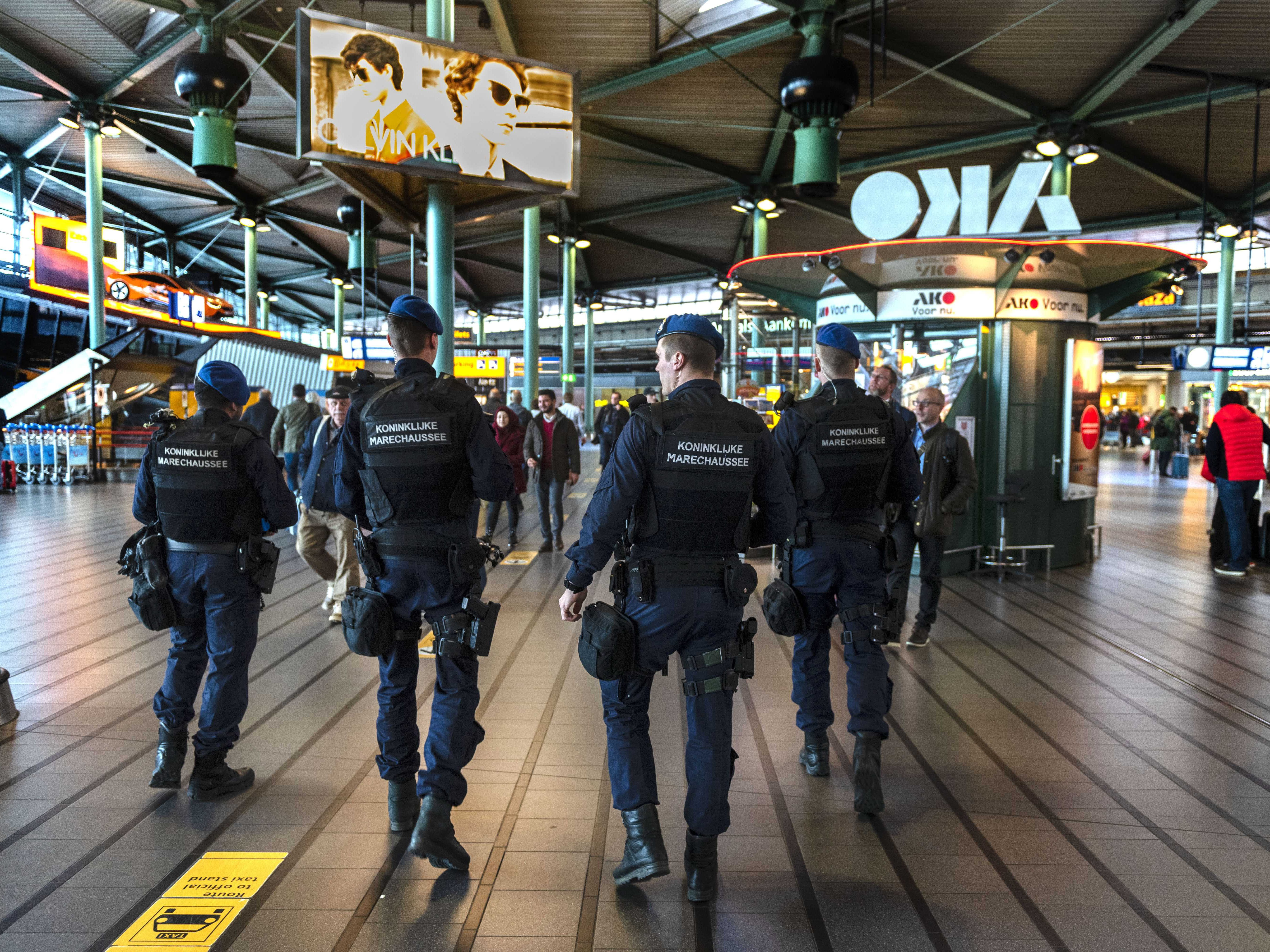 Extra military police units were deployed to Schiphol Airport to heighten security in Schiphol, The Netherlands, March 18, 2019.