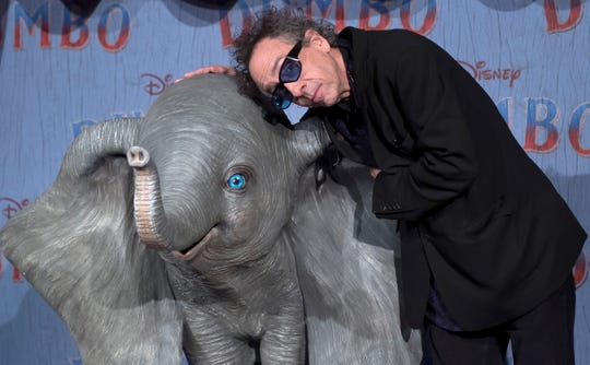 epa07447420 US film director Tim Burton poses during the photocall at the premiere of his film 'Dumbo' in Paris, France, 18 March 2019. Dumbo is released in France on 27 March 2019.  EPA-EFE/IAN LANGSDON