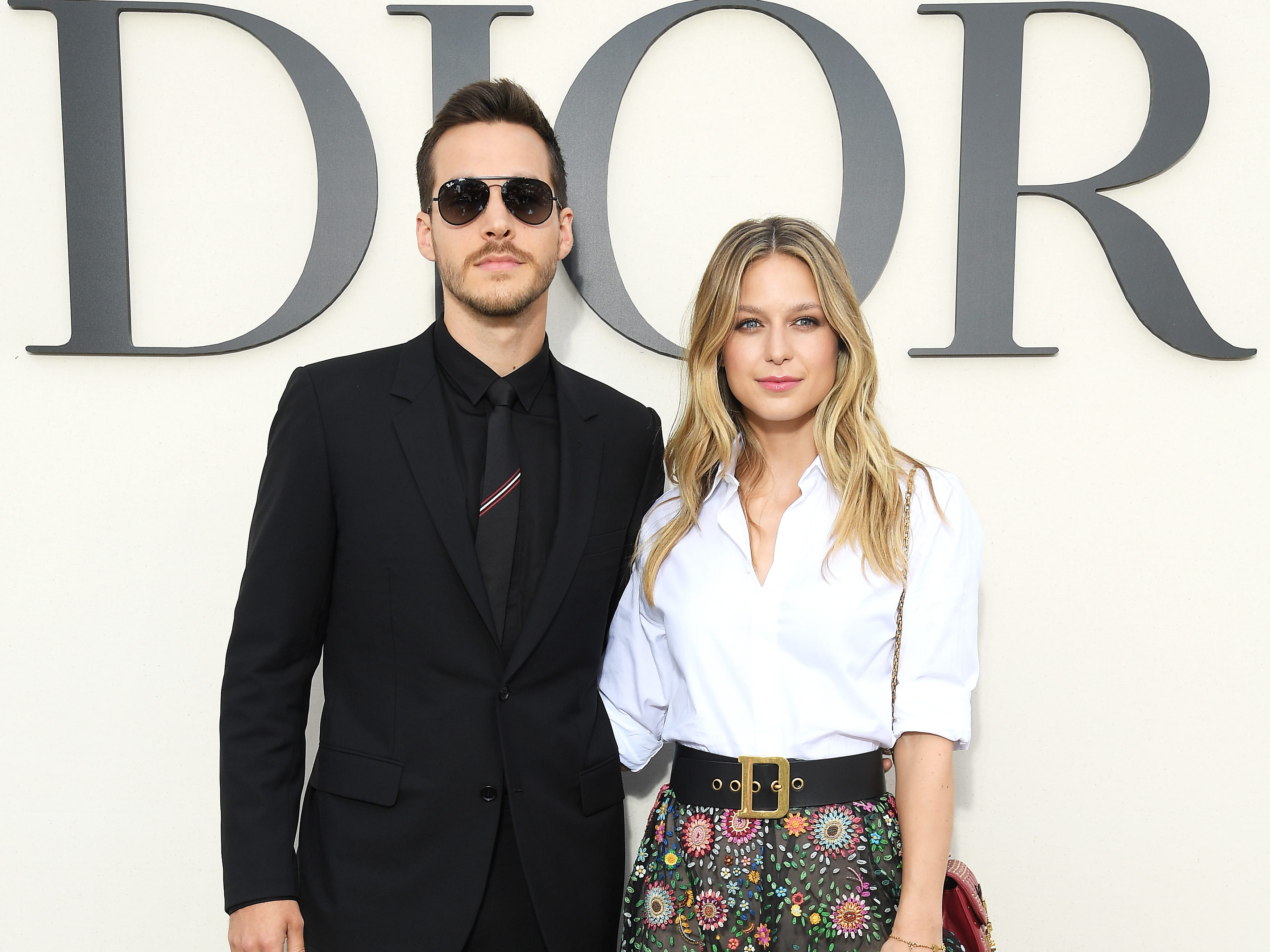 PARIS, FRANCE - SEPTEMBER 24:  Christopher Charles Wood and Melissa Benoist attend the Christian Dior show as part of the Paris Fashion Week Womenswear Spring/Summer 2019 on September 24, 2018 in Paris, France.  (Photo by Pascal Le Segretain/Getty Images For Christian Dior) ORG XMIT: 775231511 ORIG FILE ID: 1039320740