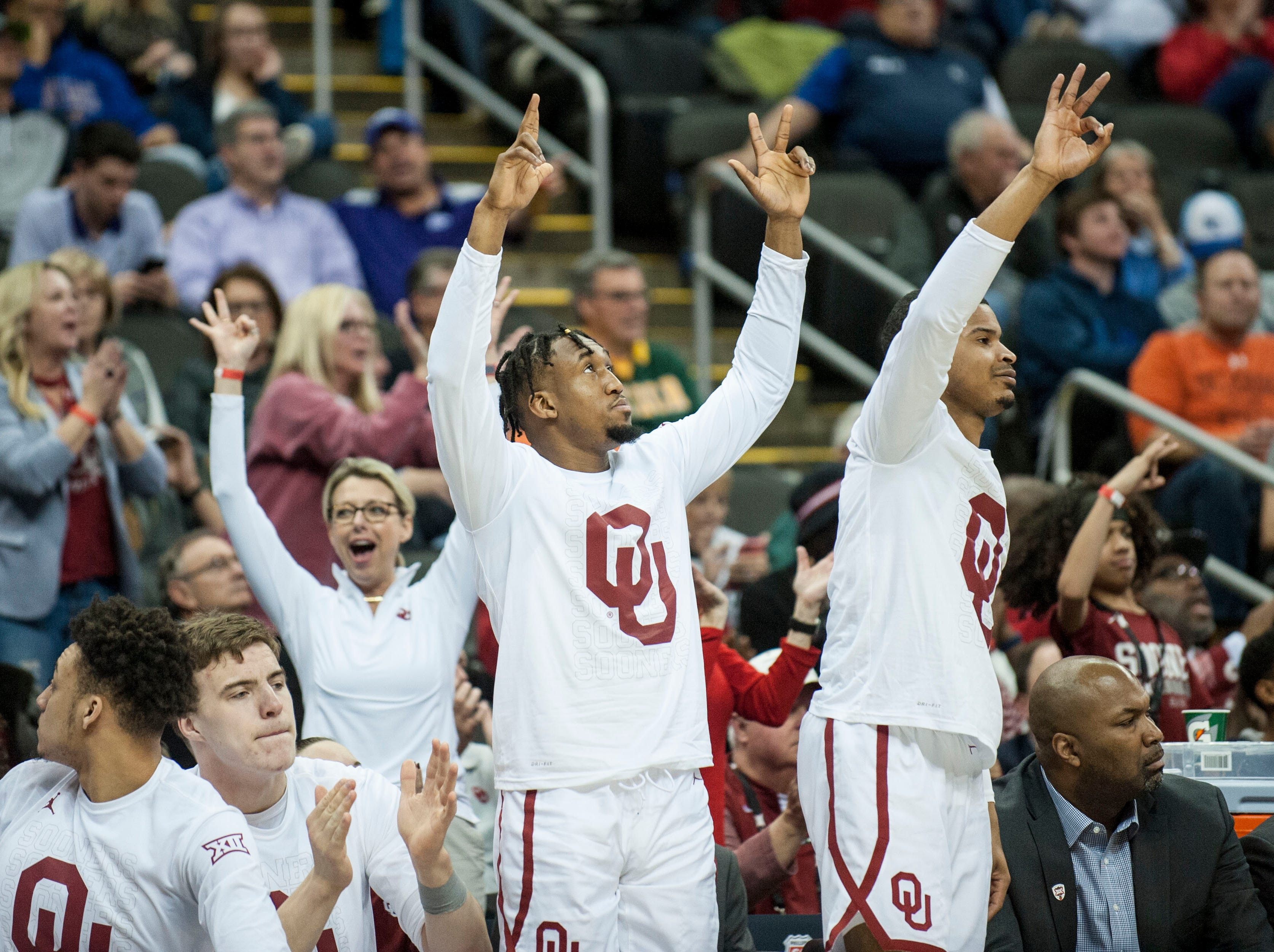 Oklahoma (19-13), No. 9 seed in South, at-large bid out of Big 12 Conference