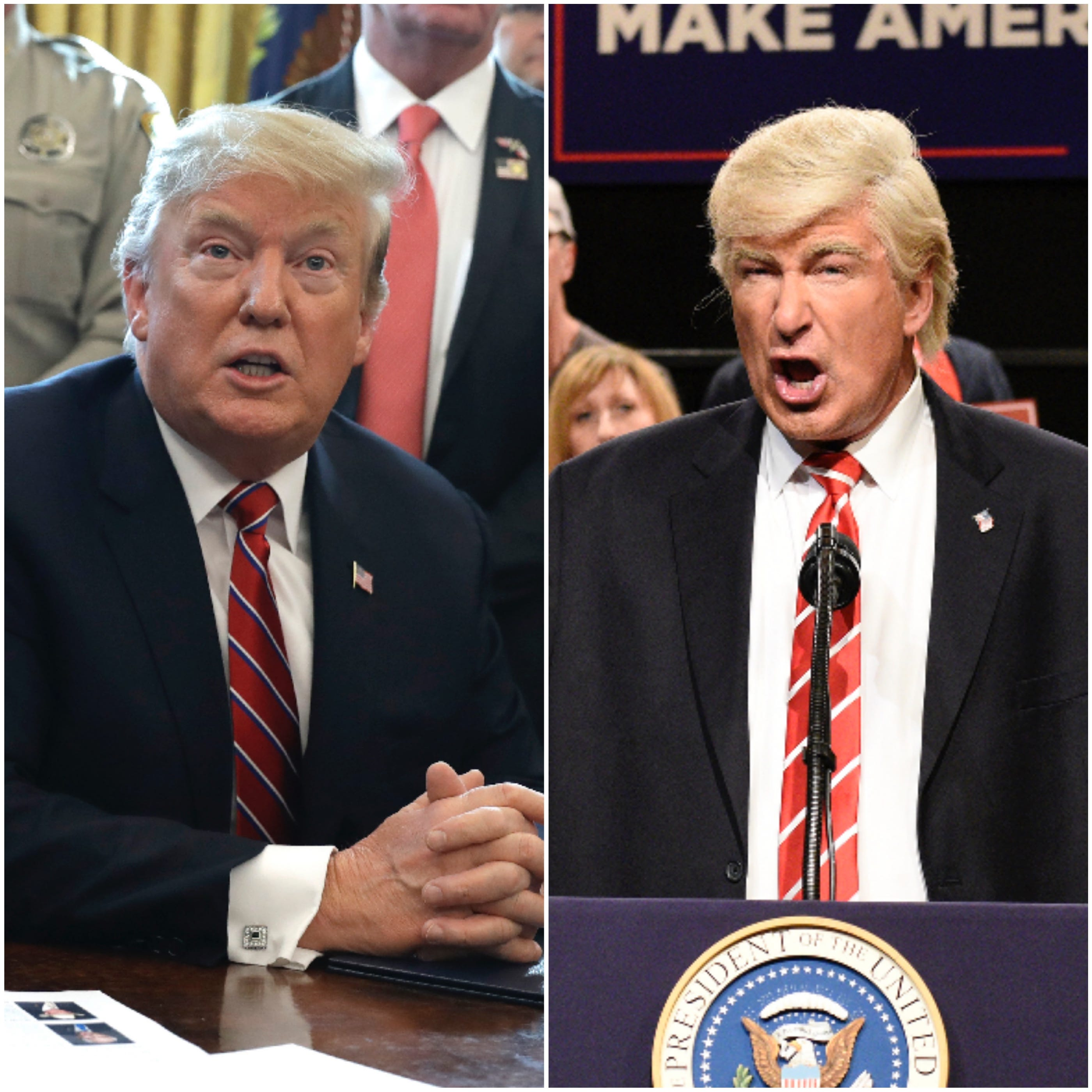 """President Trump is again calling for a federal probe in to """"Saturday Night Live"""" by the Federal Communications Commission or Federal Election Commission over the comedy show's treatment of him."""