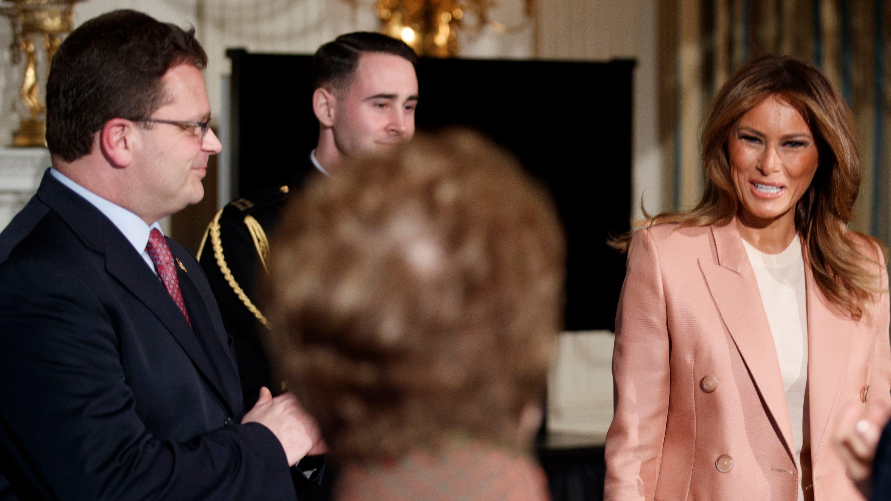 fd72f1aa143f Melania Trump talks  Be Best  campaign with cabinet secretaries