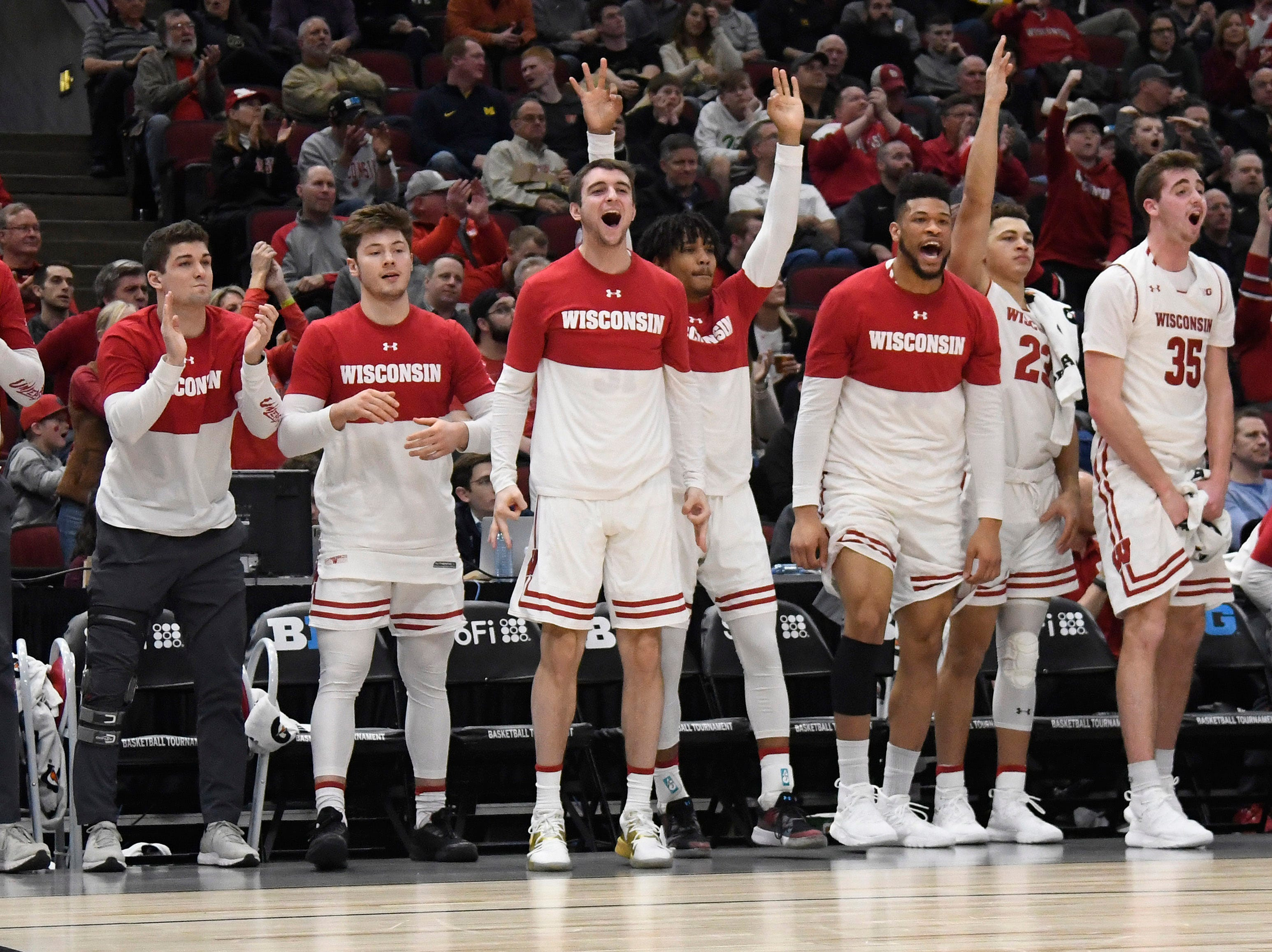 Wisconsin (23-10), No. 5 seed in South, at-large bid out of Big Ten Conference